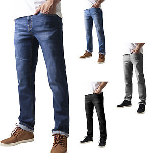 URBAN-CLASSICS-STRETCH-DENIM-JEANS-STRAIGHT-FIT-HOSE-4-FARBEN-30-38