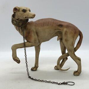 Levriero-cane-per-orientali-corteo-Magi-dog-13-5-cm-argilla-Presepe-Napoletano