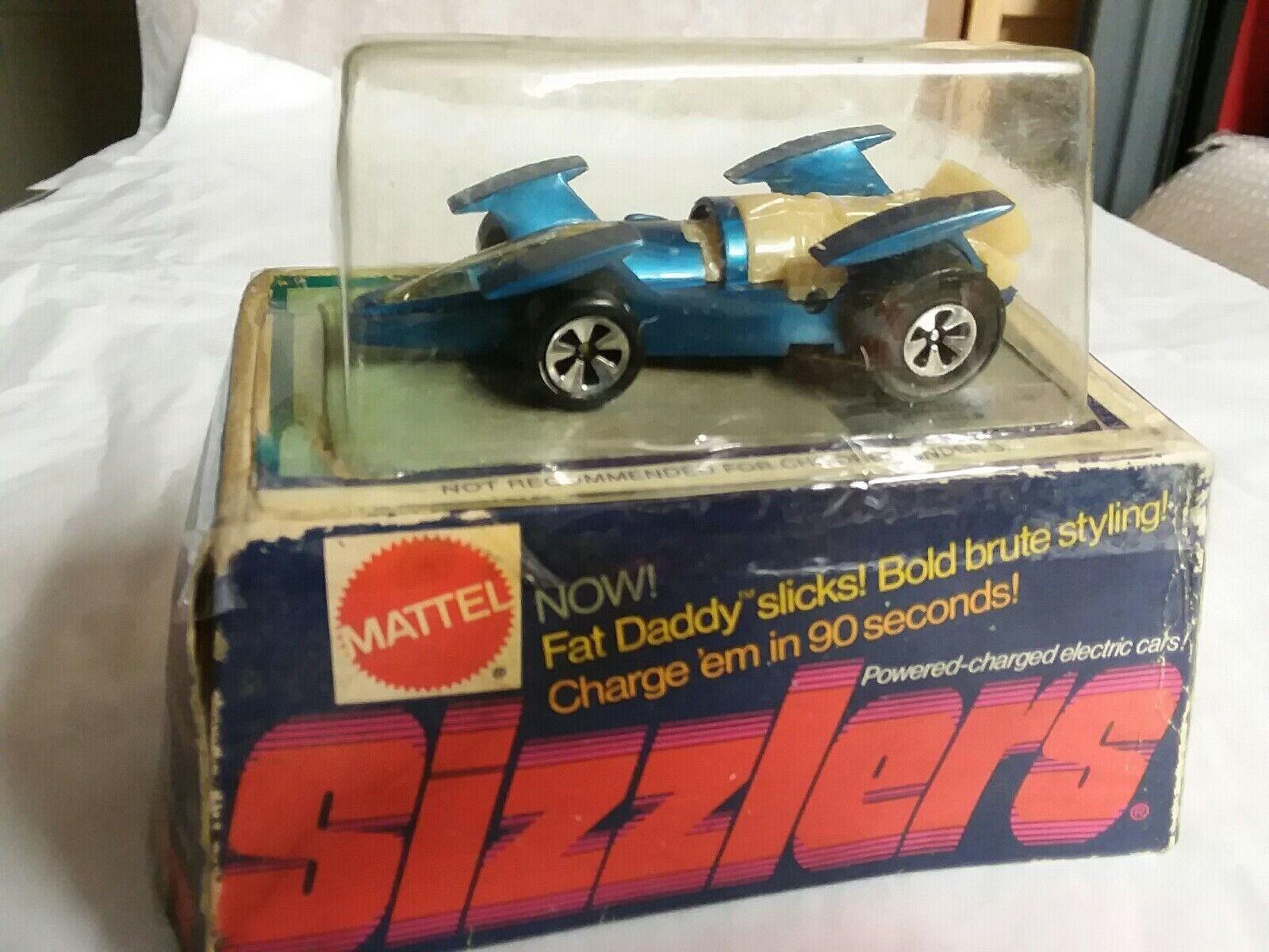 Sizzlers'74 Vintage Mattel  4945 Ram cohete, Azul, en paquete Resellados, Raro