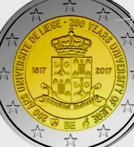 Belgium-2-Euro-Coincard-2017-Commemorative-Liege-University-New-BUNC-carded