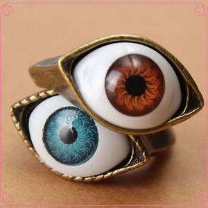 Trendy-Womens-Retro-Vintage-Evil-Eye-Finger-Ring-Eyeball-Punk-Goth-Jewellery-1PC