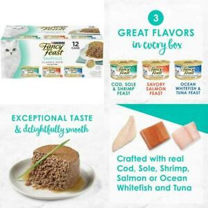 Fancy-Feast-Grain-Free-Pate-Wet-Cat-Food-Variety-Pack-Seafood-Classic-24x-3oz