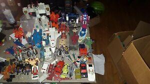 Transformers g1 g2 lot of 35 figures optimus prime soundwave grimlock wheeljack