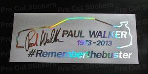WALKER-de-Paul-horizonte-REMEMBER-THE-BUSTER-Holograma-Plateado-Cromado