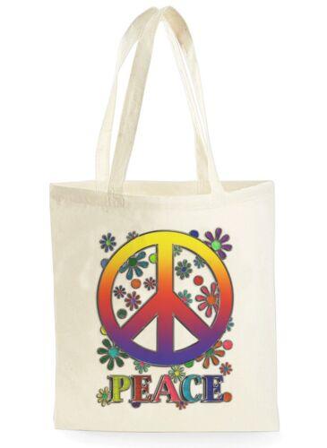 Signo de la paz Flor cartel fresco de compras Bolsa De Lona Ideal Regalo Presente