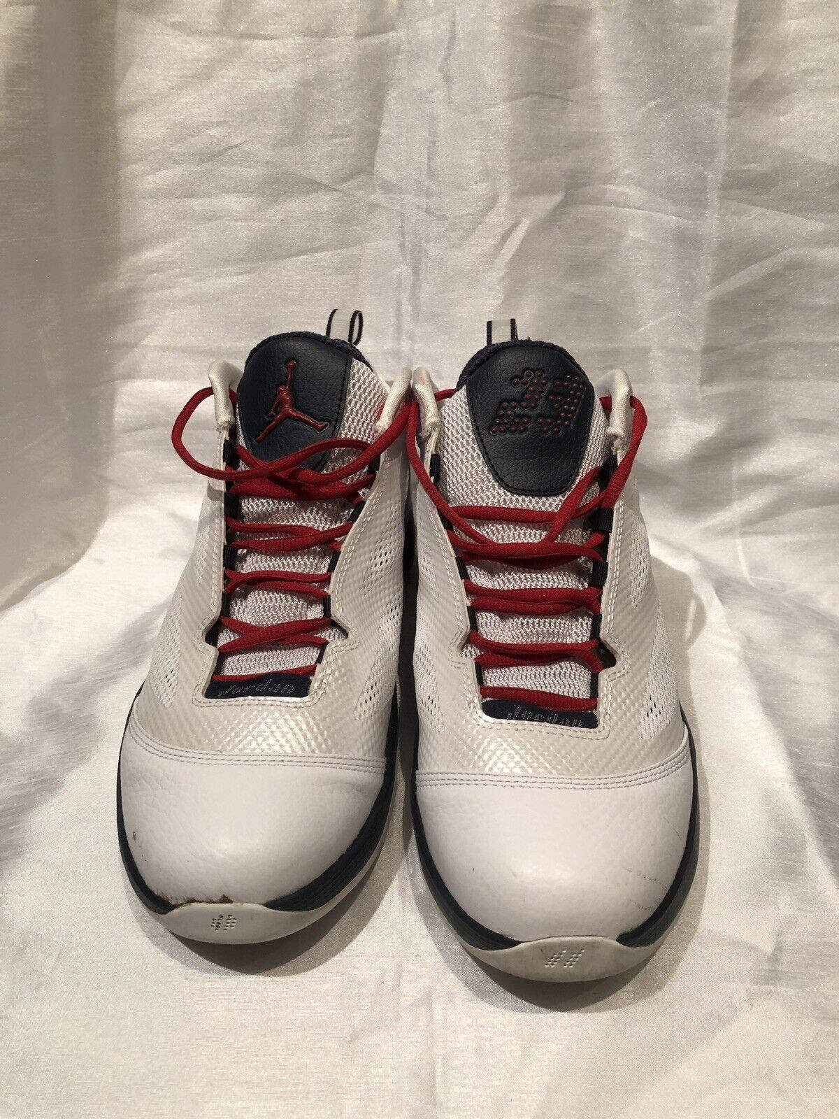 New Nike Jordan 454486 102 Q Flight White Men's Basketball shoes Size 10.5 US
