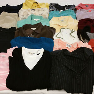 Womens-Large-Clothes-Lot-24-Piece-Mixed-All-Seasons-Mature-Conservative