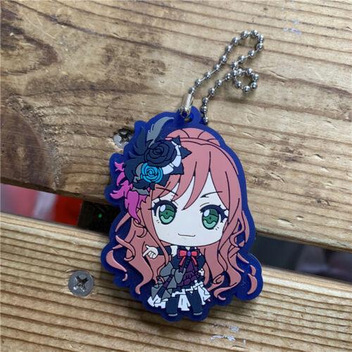 Roselia Minato Yukina Hikawa Sayo Rubber Keychain Strap Keyring Cute BanG Dream