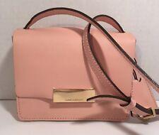 Isaac Mizrahi Small Light Pink Leather Crossbody Shoulder Bag