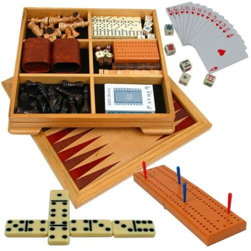 Checkers Backgammon and... Trademark Games Deluxe 7-in-1 Game Set Chess