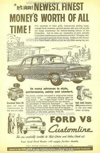 1956 FORD AUSTRALIA CUSTOMLINE A3 POSTER AD ADVERT ADVERTISEMENT SALES BROCHURE