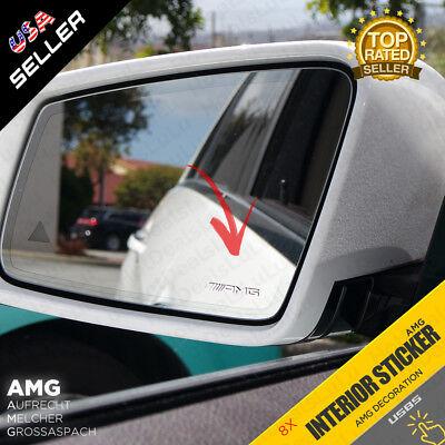 8x AMG Sticker Small Interior Decoration Metal Emblem for Mercedes Benz Class C