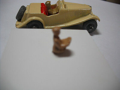 Vintage Matchbox No.19a MG-TD DIECAST PAINTED REPLACEMENT DRIVER. driver ONLY.