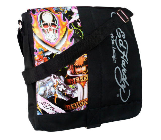 Ed Hardy Laptop Case or Messenger Bag Black Color 14 W X 16 L  ed2757c568936