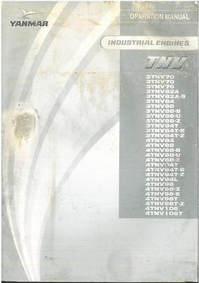 Yanmar tnv industrial de los operadores Manual-gtc3c ** original **