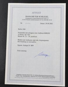 Berlin-Rotaufdruck-Mi-Nr-21-bis-34-postfrisch-Fotoattest-Schlegel-034-einwandfrei-034