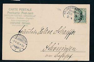 03072) Bahnpost Ovalstempel Demi-ville-sapins Train 9, Carte 1902-afficher Le Titre D'origine