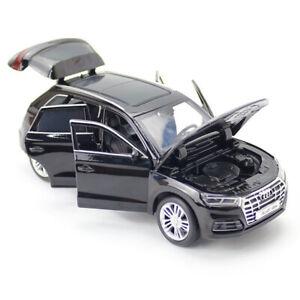 1-32-Audi-Q5-SUV-Die-Cast-Modellauto-Spielzeug-Model-Sammlung-Schwarz-mit-Licht