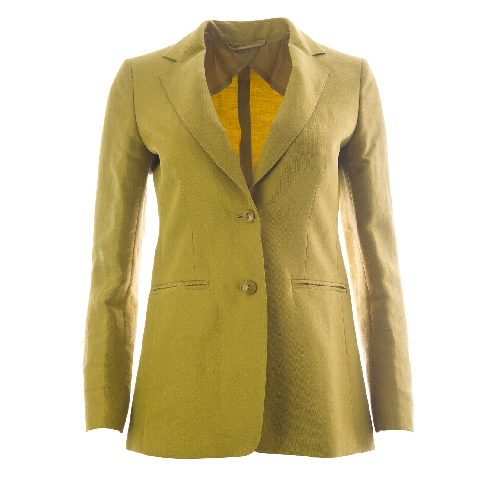 MAX MARA Woherrar Soave Lime grön Two -Button Blazer  1,090 NWT
