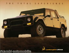 Lamborghini LM002 - MINT FACTORY LEAFLET - SINGLE SHEET BROCHURE
