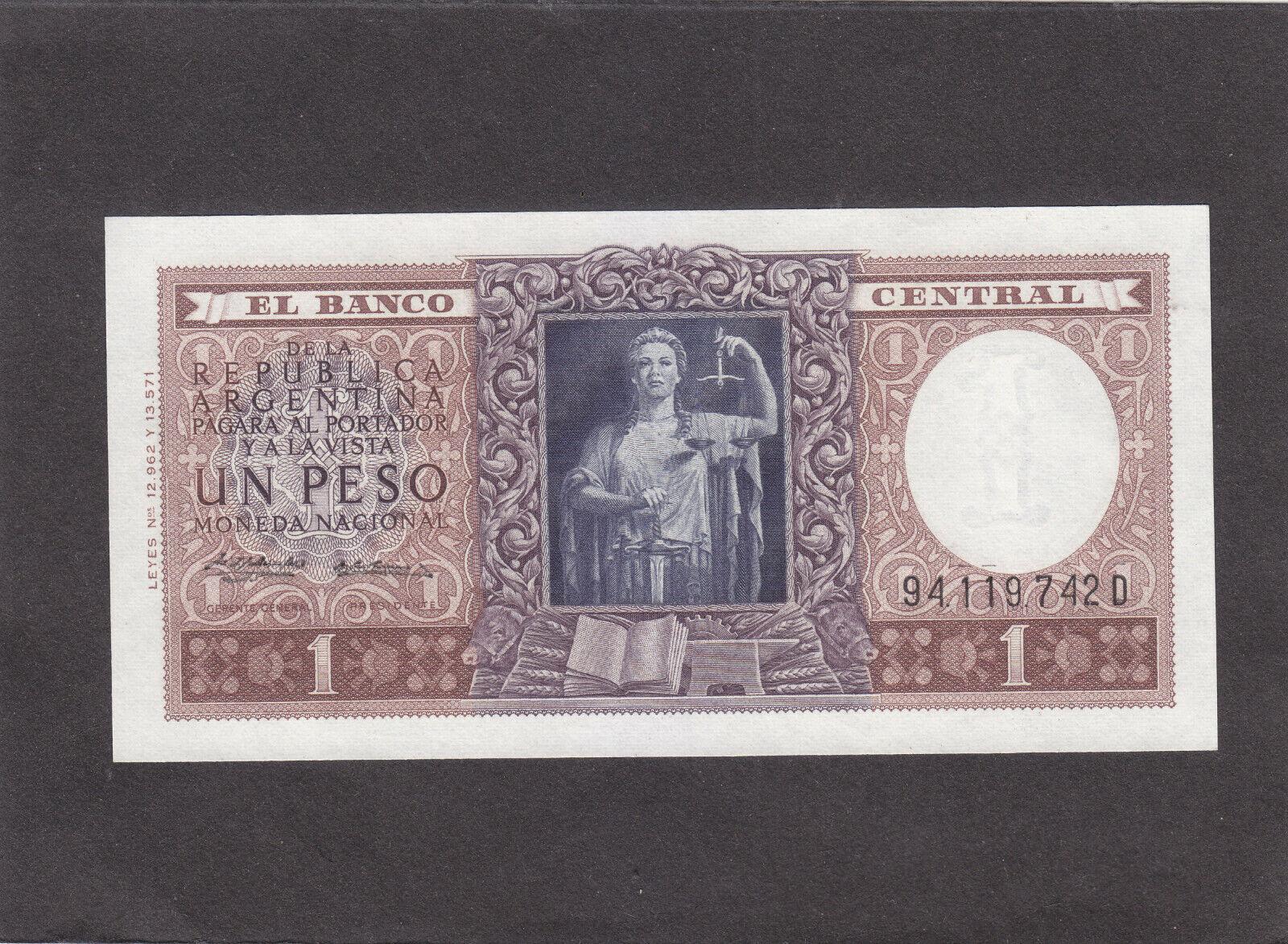 Argentina 1 Peso 1956 P-263 UNC