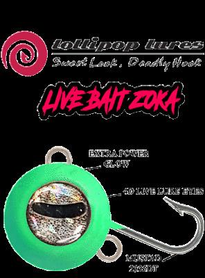 ZOKA JIG /& BAITING SYSTEM LIVE BAIT ZOKA LUMINOUS /& 4D LIVE LURE EYES