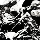 BATMAN Dark Knight ART PRINT Splash Page DAVID FINCH Richard Friend SIGNED Litho