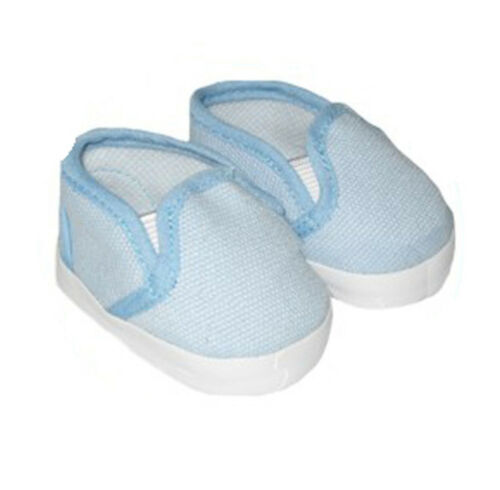 Blue Canvas Slip on Sneakers Fits 18 inch American Girl Dolls