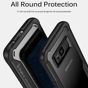 For Samsung Galaxy S8 / S8 Plus Slim Hybrid TPU Clear Back Shockproof Case Cover