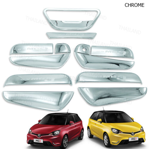 Set Chrome Bowl Handle Insert Cover Trim For MG3 Car Accessories 2016-2017