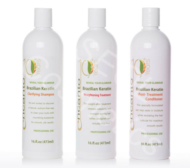 Encanto Do Brasil Keratin Hair Straightening Blowout Hair Kit 3x100ml For Sale Online Ebay