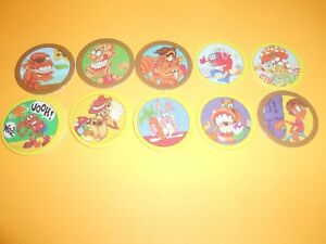 130 Pogs Pog Caps Milkcaps Flippo : Lot De 10 Hoppies Excellente Qualité