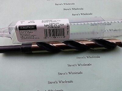 "9//16 Drill Bit 3//8/"" Reduced Shank Super Premium HSS Blk /& Gold USA Union Made"