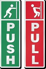 PUSH PULL SIGN REFLECTIVE STICKER FOR HOME OFFICE SHOP DOORS 8 *4 INCH BOARD