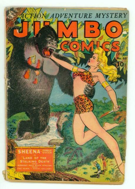 JUMBO COMICS #60 GD 2.0 GGA SHEENA COMIC 1944