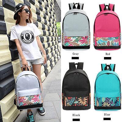Women Girl's Canvas School Bag Girl Cute Backpack Travel Rucksack Shoulder Bag