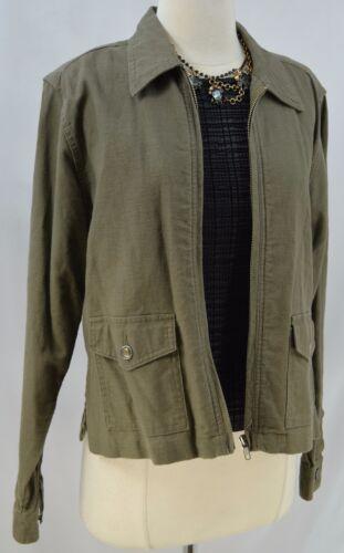 pantalone in in safari lino Top cappuccio cotone e Camicetta con cotone S misto militare Giaccone Nuovo z7wdq00