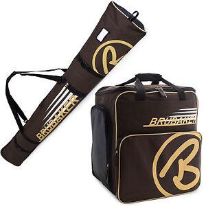 Ski Bag Combo w. Boot Bag for Ski Poles Boots and Helmet Brown Sand NEW Limited
