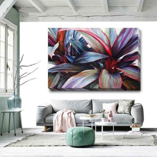 Tropical Flower Purple Stretched Canvas Art Print Framed DIY Home Wall Decor F91