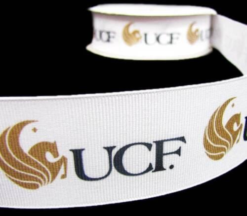 "5 Yd University of Central Florida Sports Team Football Grosgrain Ribbon 1 1//2/""W"