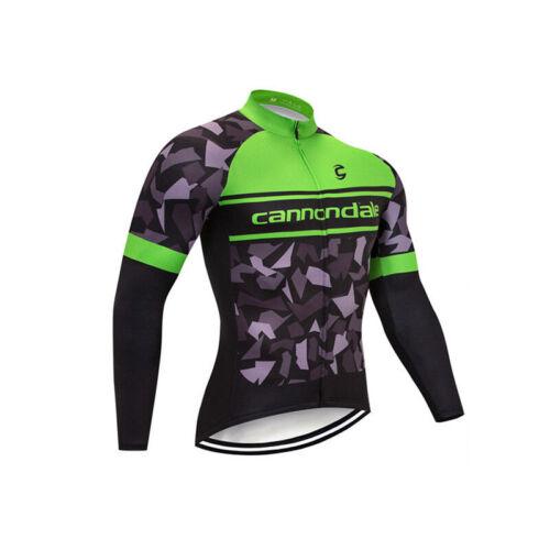 Mens Team Thermal Fleece cycling long sleeve jersey Bib pants set Cycling Jersey