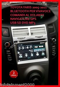 AUTORADIO-7-034-Toyota-Yaris-2005-2011-Bluetooth-Navigatore-Gps-Comandi-Volante-dvd