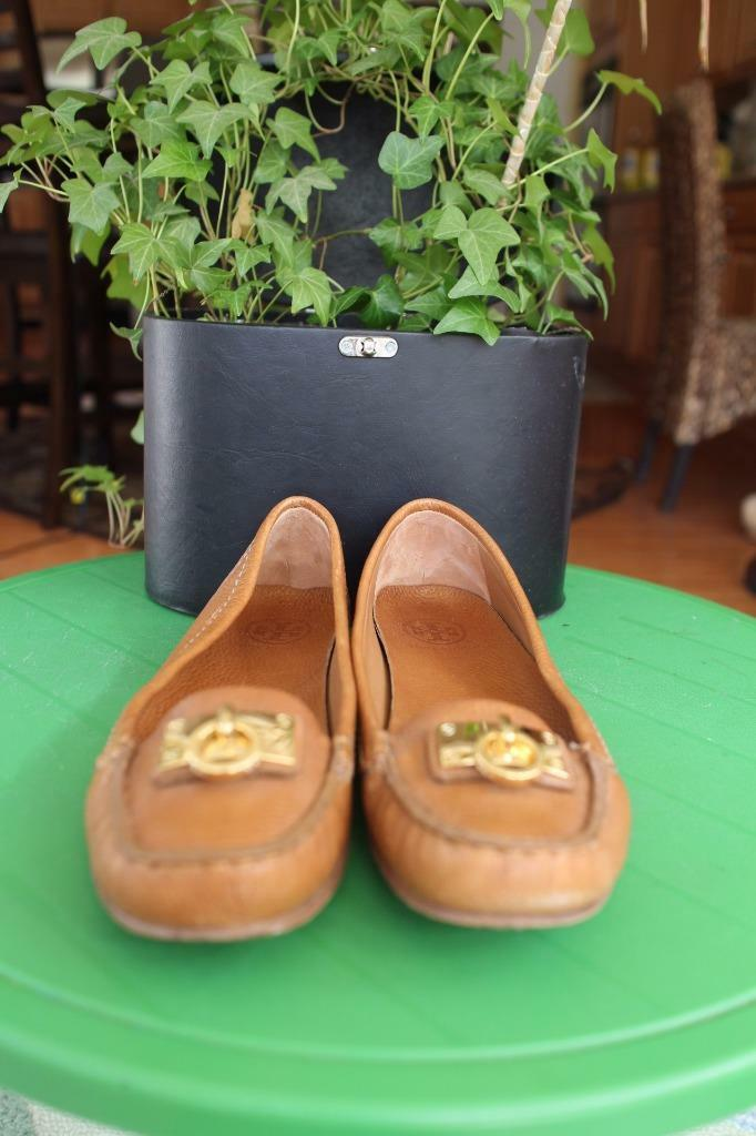 TORY BURCH LEATHER BEIGE ORNAMENT TOP LOAFER SHOE SIZE 10 10 10 (SH2000 45c612