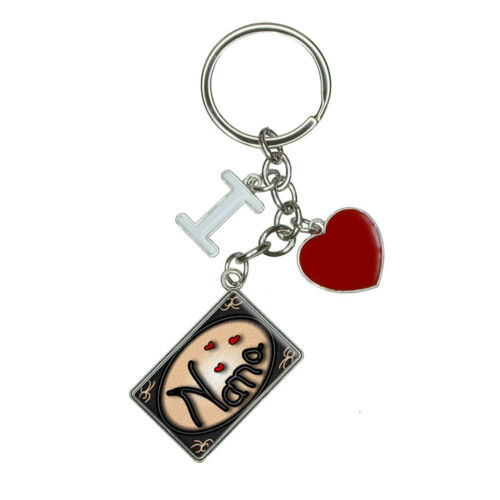 Nana Love Hearts I Heart Love Keychain Key Ring