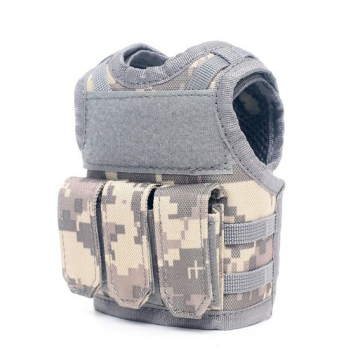 Tactical Beer Bottle Cover Military Mini Molle Vest Personal Bottle Drink Bags