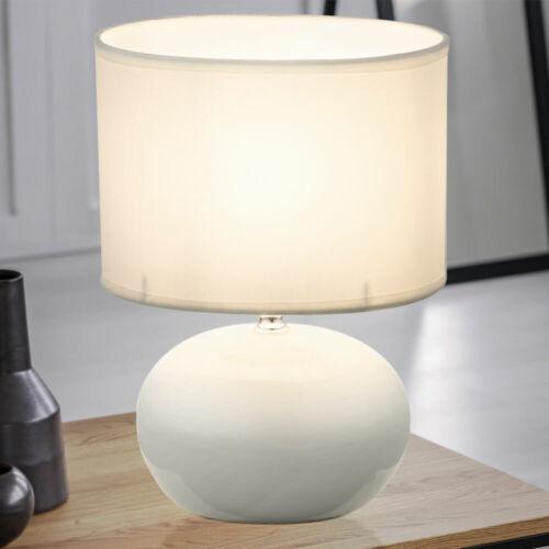 RGB LED Keramik Lese Lampe Dimmer Nacht Tisch Leuchte Textil beige Fernbedienung
