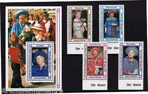 Antigua & Barbuda - 1990 Queen Mother's 90th - U/M - SG1206-9 + MS1210