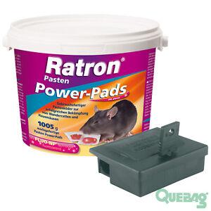 Maeusegift-Maeusekoeder-Ratron-Pasten-Power-Pads-29ppm-1005g-Koederstation-Peti