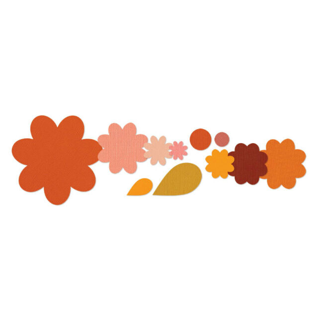 Sizzix Flower layers & leaf dies - 11 dies - for use in most cutting systems!