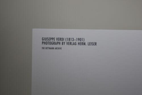 GIUSEPPE VERDI by Verlag Herm.Leiser Kunst-Postkarte